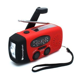 RunningSnail Emergency Hand Crank Self Powered AMFM NOAA Solar Weather Radio with LED Flashlight 1