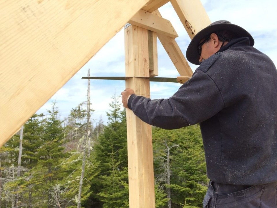 The-Off-Grid-Cabin-Making-Loft-Window-Opening