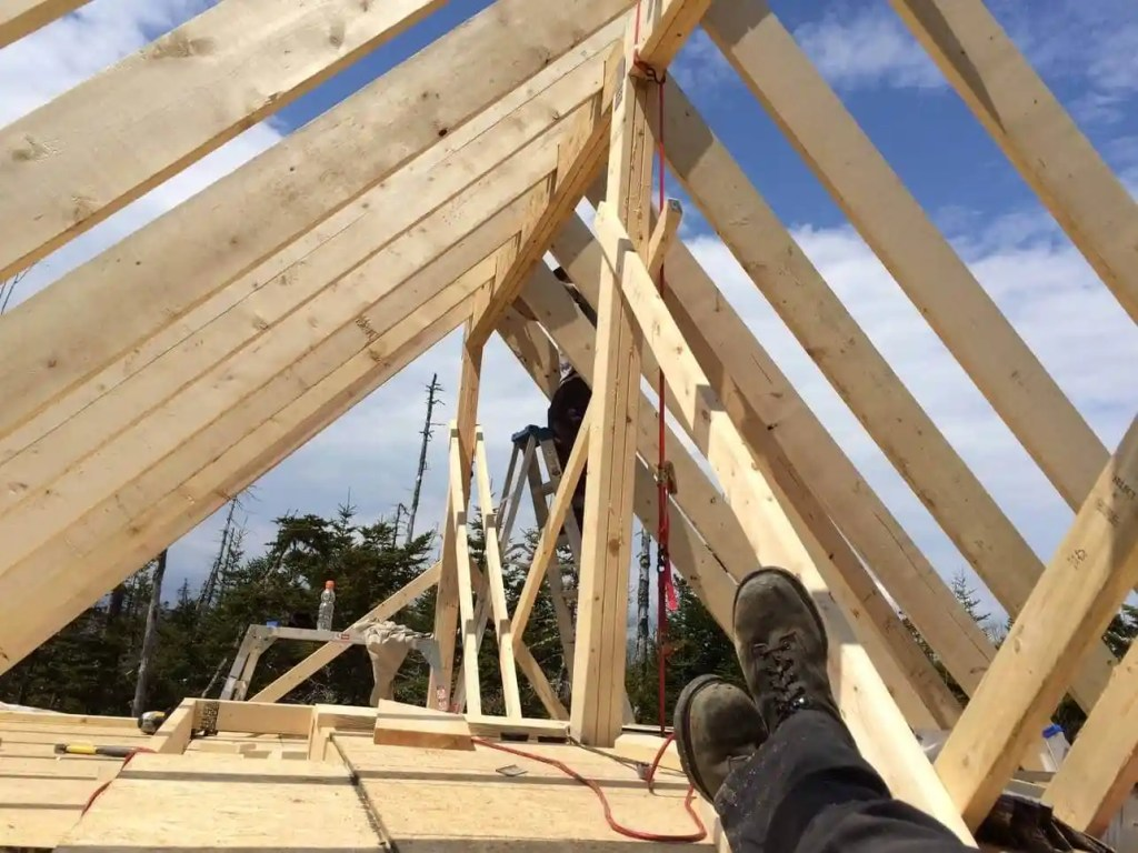 The-Off-Grid-Cabin-Roof-Rafter-Taking-a-Break