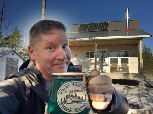 Steve Barnes Welcome to The Off Grid Cabin Photo