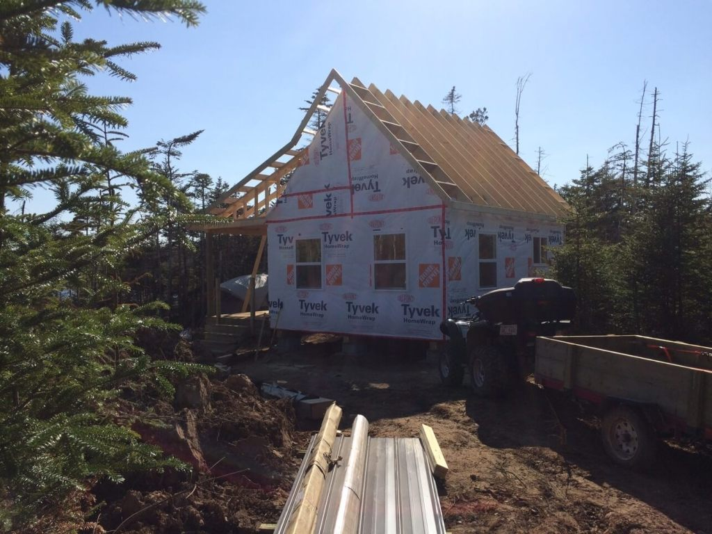 The-Off-Grid-Cabin-Roof-Ladders-End-of-Day-Complete