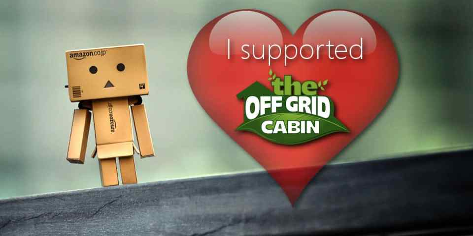 I supported the off grid cabin blog