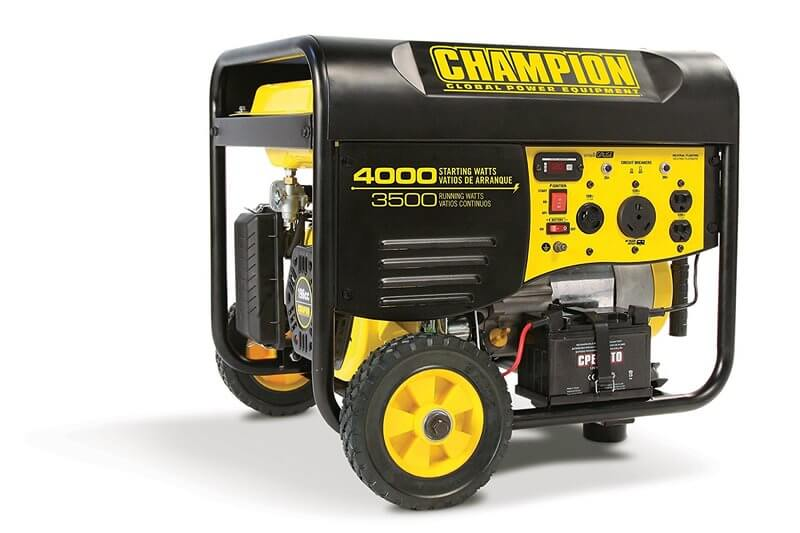 Champion 3800-Watt Dual Fuel RV Ready Portable Generator with Electric Start