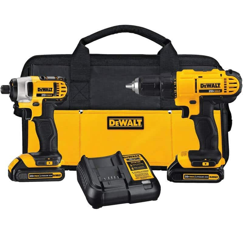 DEWALT DCK240C2 20v Lithium Drill Driver and Impact Combo Kit (1.3Ah)