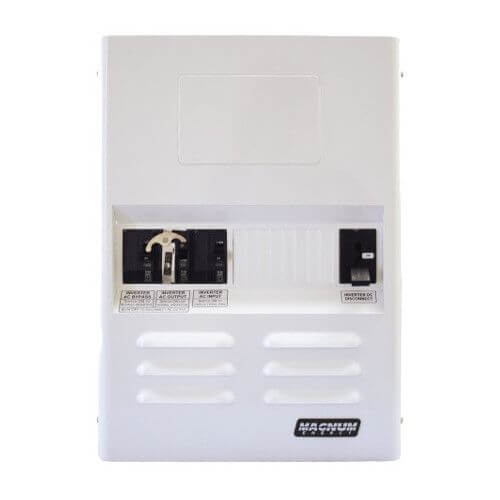 Magnum Energy MPSL250-30D MPSL Series Magnum Panel Single Low Power with 250A (fits 24 VDC models) DC Breaker, with 30A Dual Pole AC Input Breaker