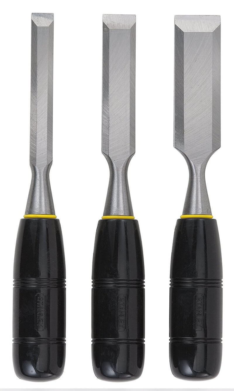 Stanley Series Short Blade 3-Piece Wood Chisel Set
