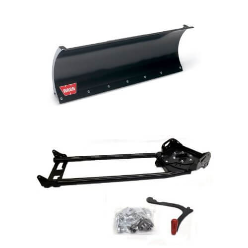 Warn 78950 ProVantage 50 Inch Straight Plow Blade and 78100 ProVantage Plow Base Push Tube Assembly Bundle