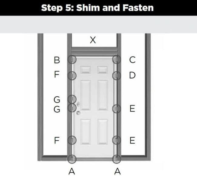 5 Door_Installation_Shim_And_Fasten