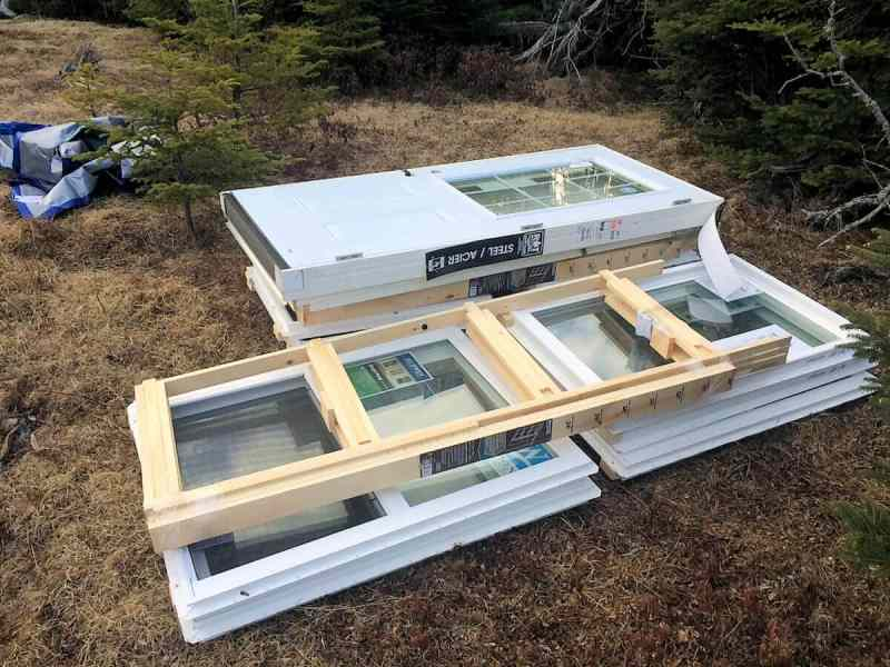 The Off Grid Cabin Windows and Door Delivered 1