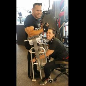 Kris Dim with walking aid