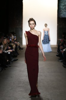 A model walks the runway wearing Di Yusupoff at Nolcha Shows During New York Fashion Week Women's Fall/Winter 2016 Presented By Neogrid at ArtBeam on February 15, 2016 in New York City.