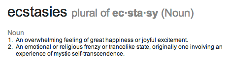 ecstasy defined