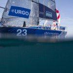 Les Figaros lors de la 4eme etape de la Solitaire Urgo Le Figaro entre Concarneau et Dieppe - le 19/06/2017