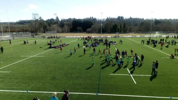 The FestIval of rugby brought 470 kids from across Inverness to play at Canal Park Image courtesy: Highland RFC