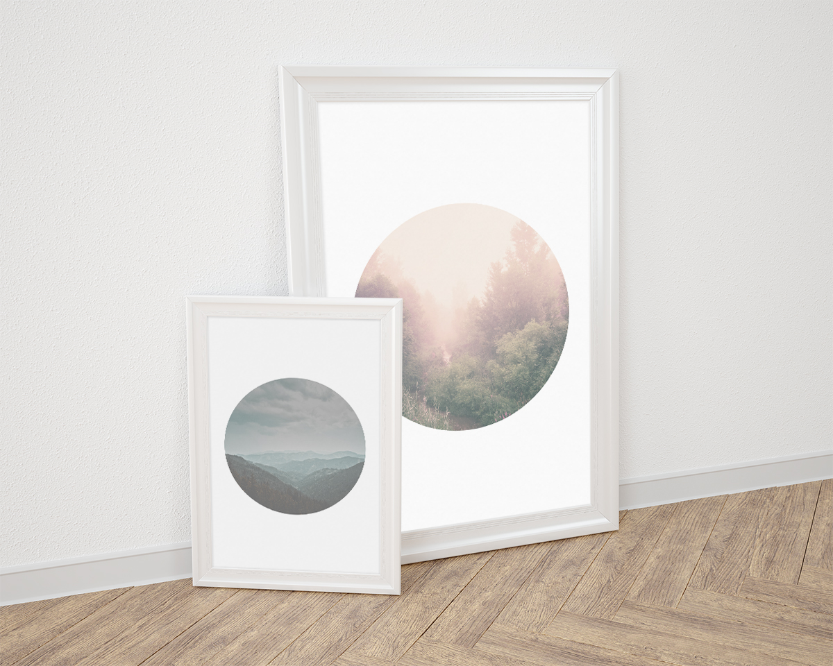 Tranquil Porthole Wall Art – Set of 4