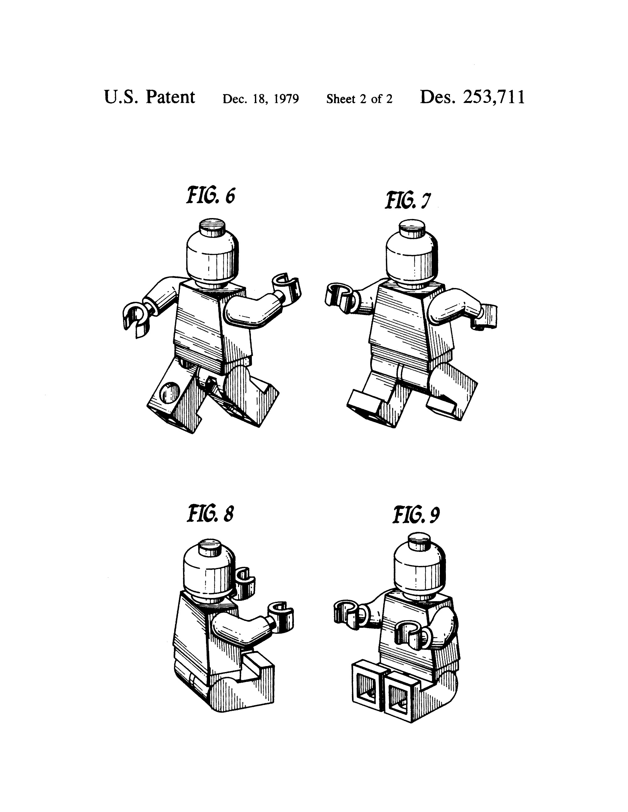 Lego Patents Wall Art