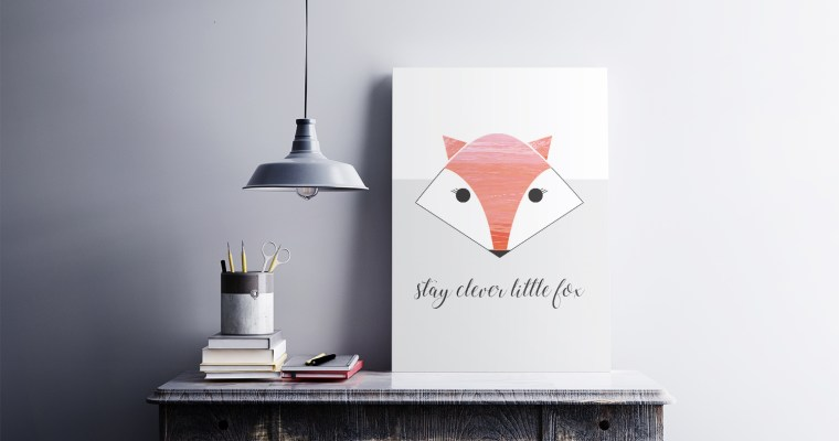 Stay Clever Little Fox Wall Art