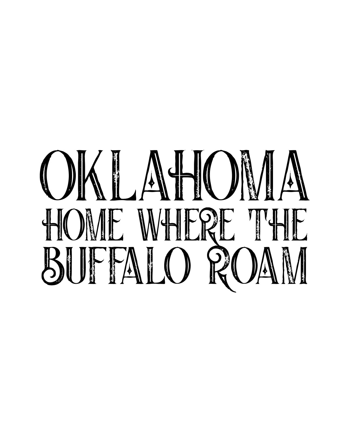 Oklahoma Wall Art - Set of 4