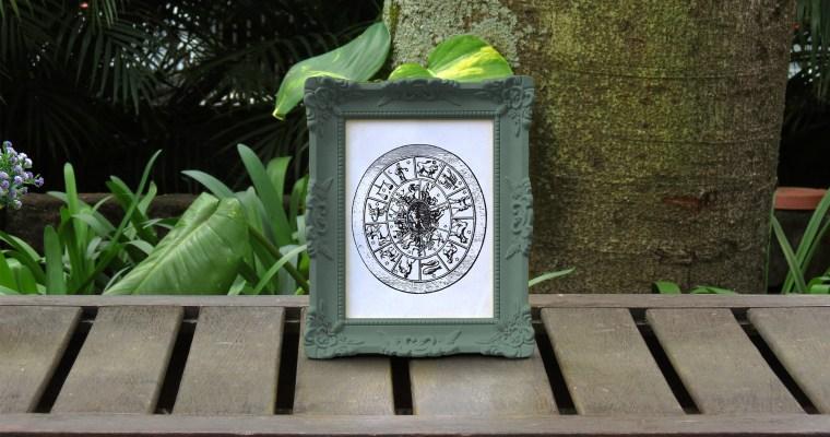 Zodiac Sign Chart Wall Art
