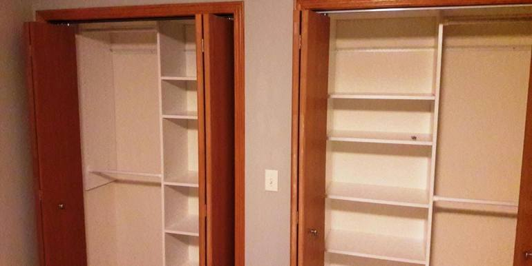 Newman basement bedroom closets