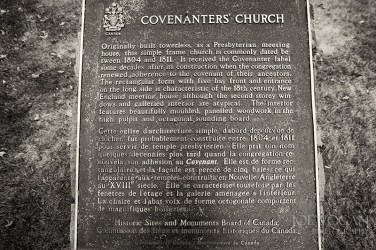 Covenanter's Presbyterian Church, Grand Pre, Nova Scotia, Canada, Constructed 1811