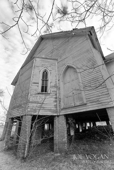 Rear of Haven Memorial Methodist Episcopal Church.