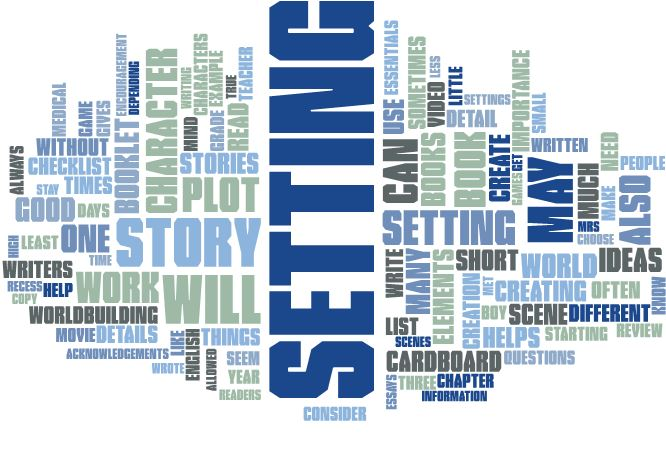 Elements of setting word cloud