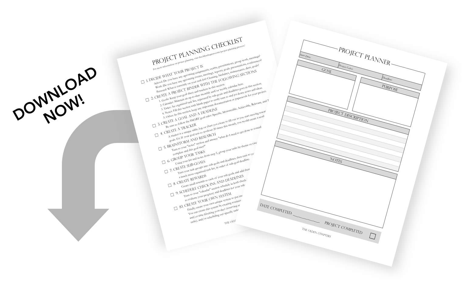 Learn how to conquer the project planning process in ten easy steps. This is one of the best productivity tips for college students looking to stay organized and better their time management. Includes a free project planning printable to stay organized and accomplish your biggest tasks. Read now to learn more time management and productivity tips!