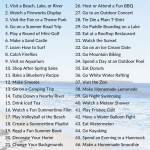 The Ultimate Summer Bucket List The Olden Chapters