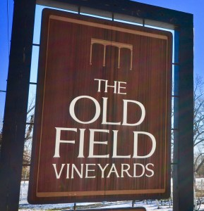 "Our sign ""The Old Field Vineyards"""