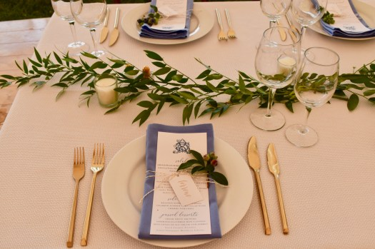 table setting with cutlery