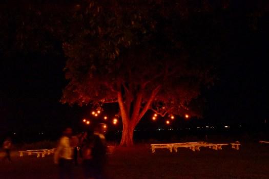 Ceremony at night.