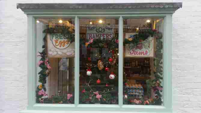 A Christmas window in Shipston