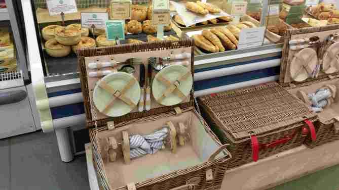 Picnic basket at Wyatts Farm Shop