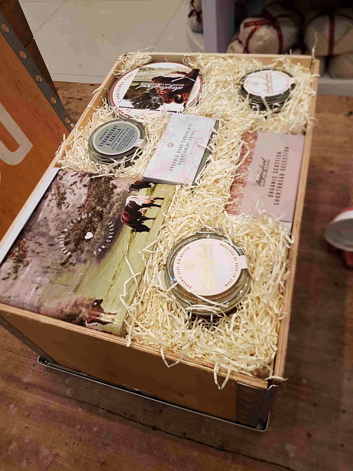 One of Daylesford Organic's beautiful Christmas hampers The Daylesford Organic Christmas catalogue. These products are available from Daylesford, a stunning farm shop near our luxury B&B