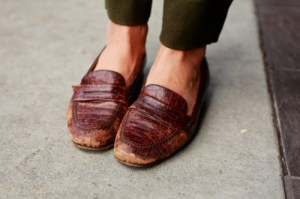 womens beat up loafers