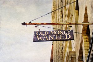 Old Money Wanted Sign