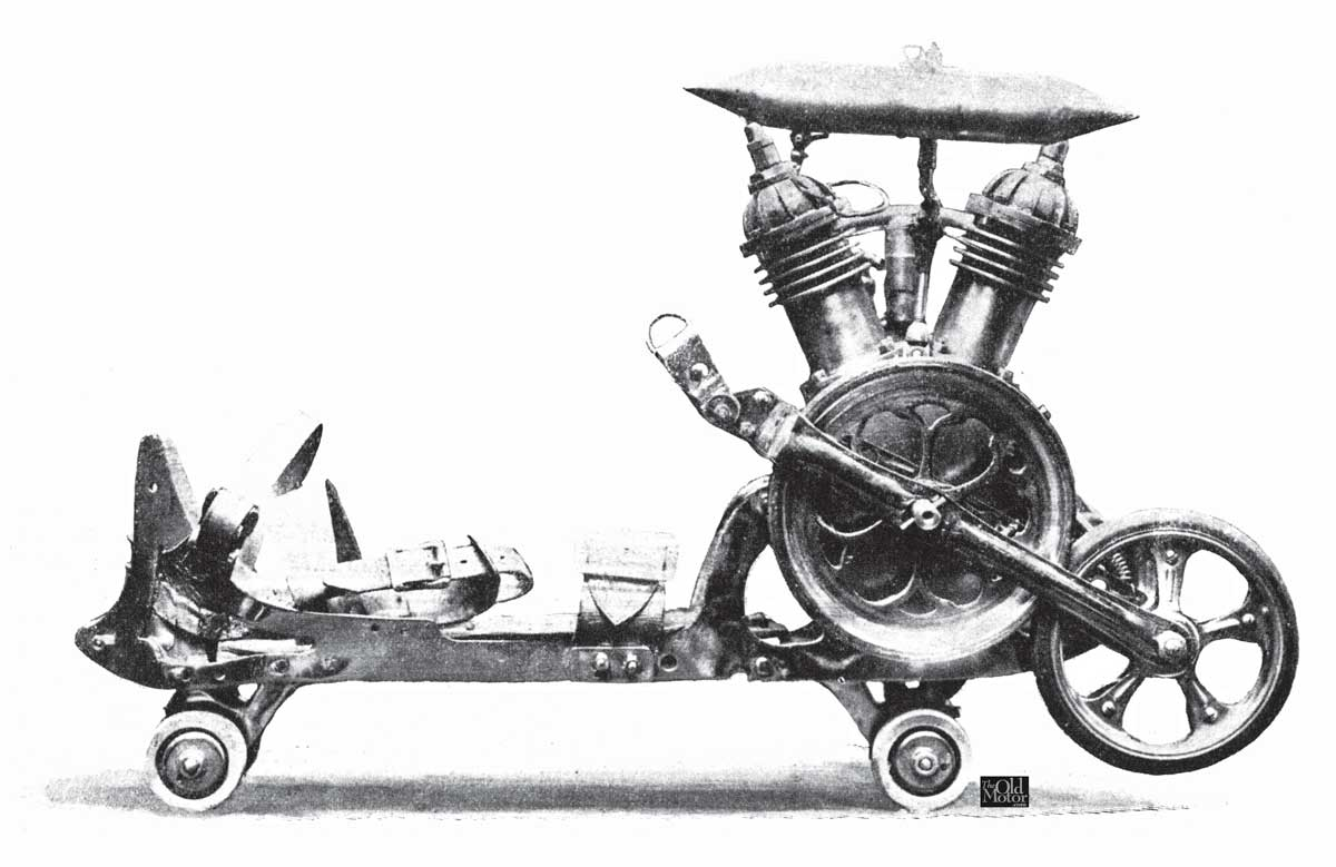 M Mercier S Four Stroke V Twin Powered Roller Skates