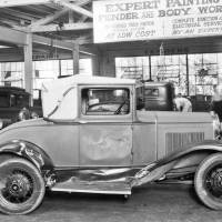 """In the Garage: Damaged Model """"A"""" Ford Sport Coupe - The Old Motor"""