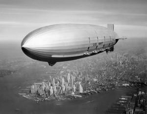 airship over new york city
