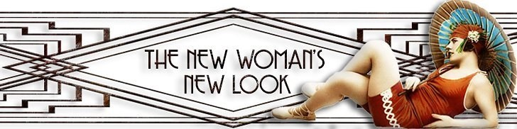 The New Woman's New Look Logo - The new fashion of the 1920s wasn't just a matter of fashion. It spoke of women's newfound freedom of expression as well as a larger revolution in the society at large
