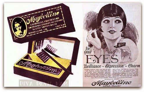 Maybelline eyeliner advertisement 1920s