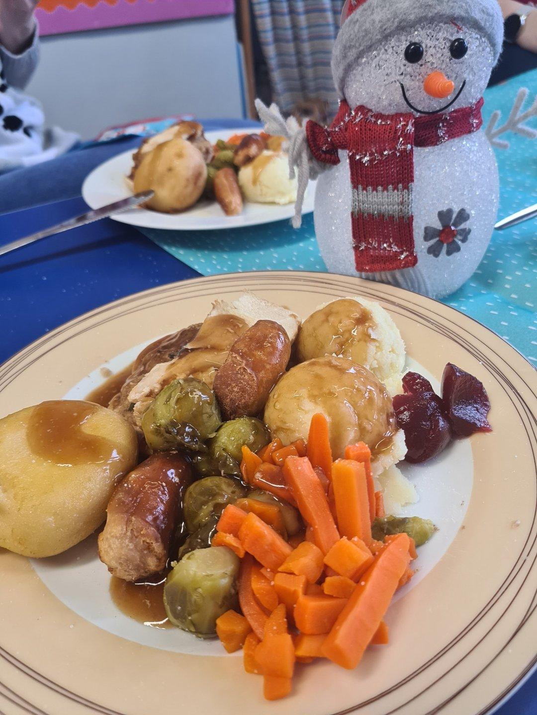 Christmas dinner on a plate