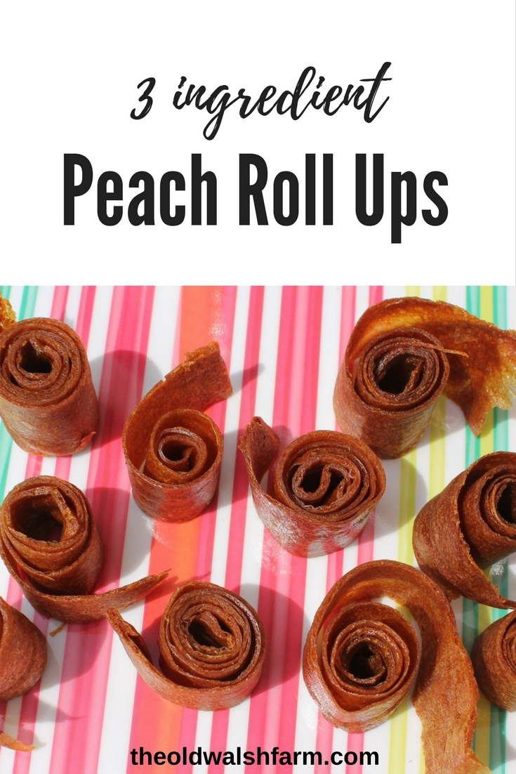 How to make perfect peach fruit leather