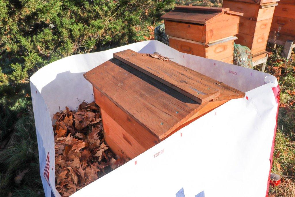 DIY beehive insulation