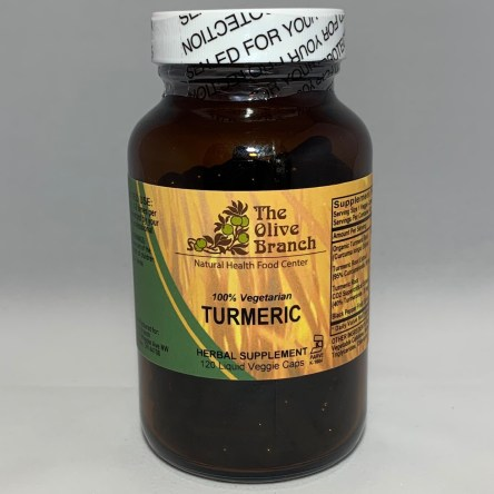 The Olive Branch Turmeric 550mg + Black Pepper 120 Liquid Capsules