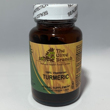 The Olive Branch Turmeric 550mg + Black Pepper 60 Liquid Capsules