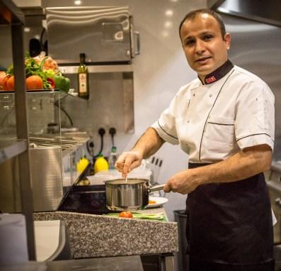 Mustafa Kemal, head chef at The Olive House