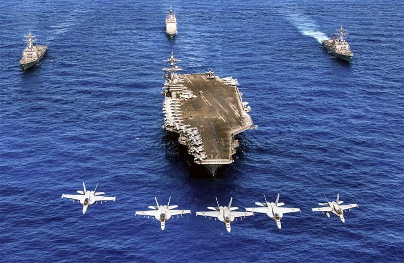 Elements Of USS Carl Vinson Strike Group, 12 June 2017