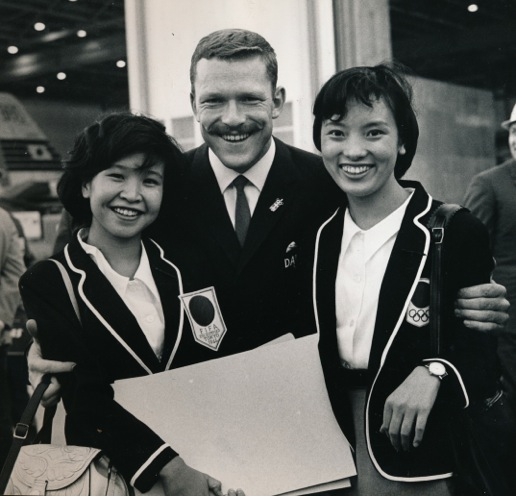 Soren Svejstrup, greeted in Tokyo upon arrival (from the collection of Soren Svejstrup)